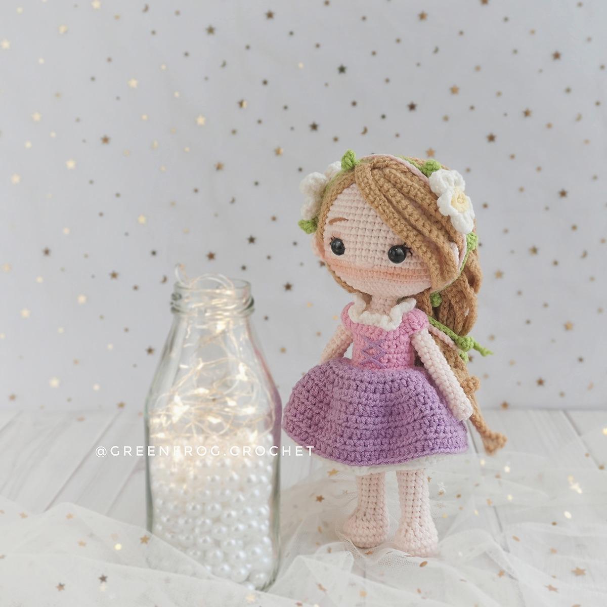 CROCHET PATTERN Rapunzel Doll // Storybook Crochet Pattern // | Etsy | 1200x1200
