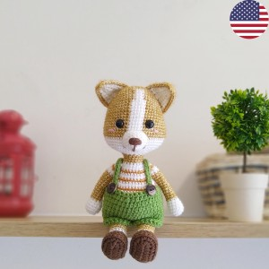 Welsh corgi dog amigurumi pattern 1 (1) - free cross stitch ... | 300x300