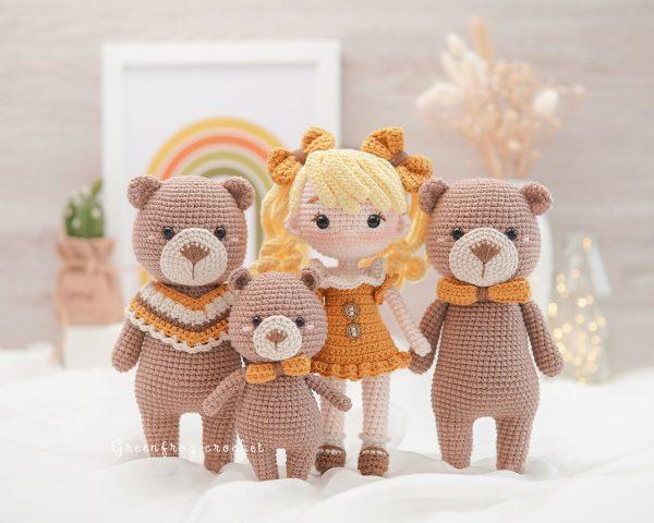 Hansel-gretel-goldilocks-bear-family-amigurumi-pattern