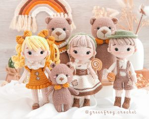 Hansel-gretel-goldilocks-bear-family-amigurumi-pattern